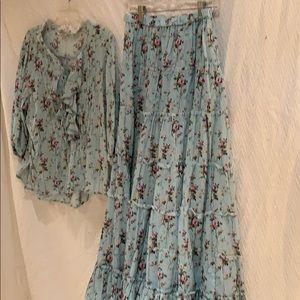 Ralph Lauren skirt and top set